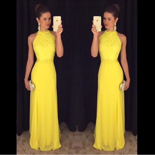 Vestido de Festa Longo amarelo