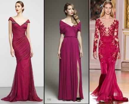 Vestido de Festa Longo para Casamento vermelho de 3 modelos diferentes