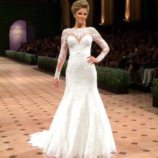 e4cacfbc9 Vestido de Noiva Sereia – 65 Modelos Lindos & Um Estilo Apaixonante!