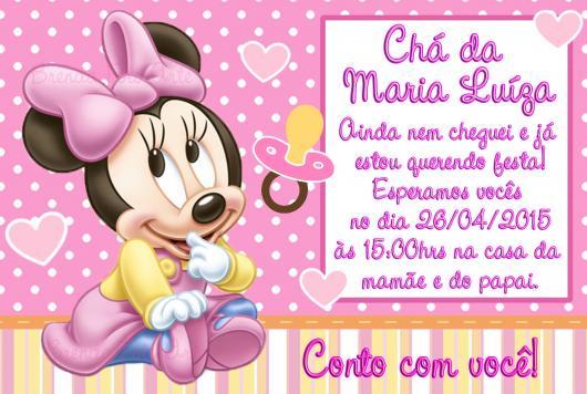 convites da Minnie Baby