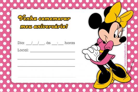 Convites Da Minnie 70 Inspiracoes Fofissimas Modelos Para