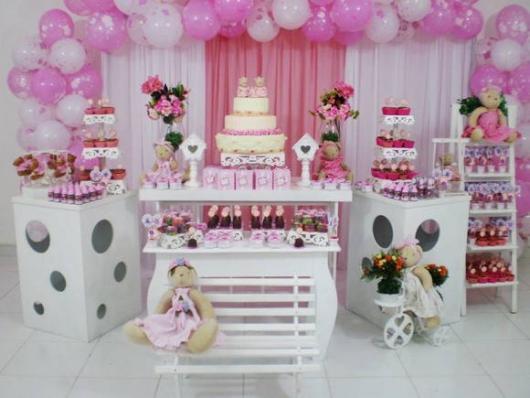 kit festa provençal rosa e branco