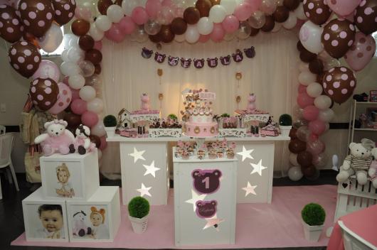kit festa provençal rosa e marrom