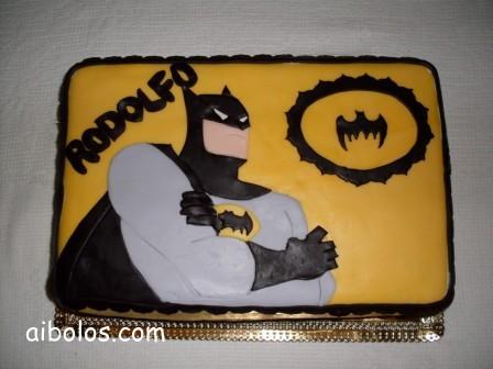 Bolo do Batman Quadrado