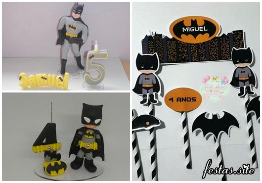 Ideias de Topo de Bolo do Batman