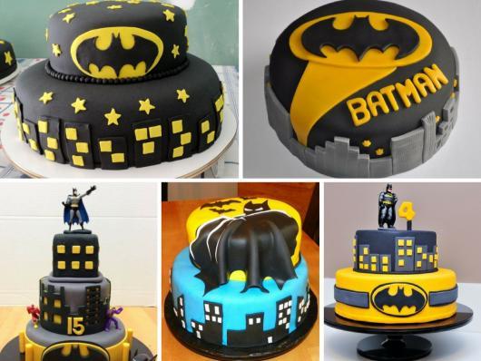 Bolo do Batman de Pasta Americana