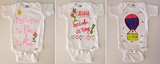 Brincadeiras para chá de bebê Evagélicas personalizar os bodys