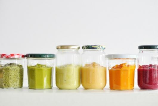 Brincadeiras para chá de bebê Simples para adivinhar os ingredientes de cada papinha