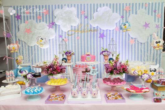 Como fazer uma festa do Pijama decoração do tema corujinha