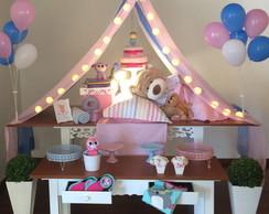 Como fazer uma festa do Pijama decoração do tema ursinho