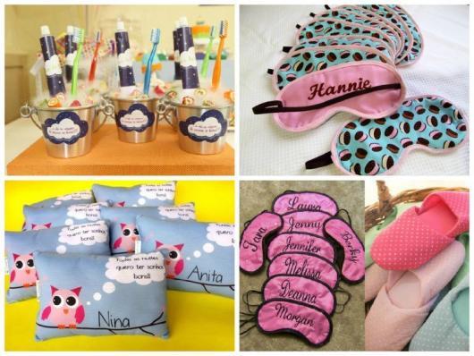 Como fazer uma festa do Pijama lembrancinhas almofadas e máscaras de dormir