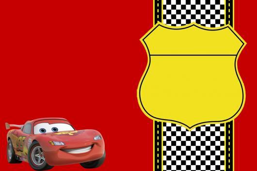 convites carros fundo vermelho
