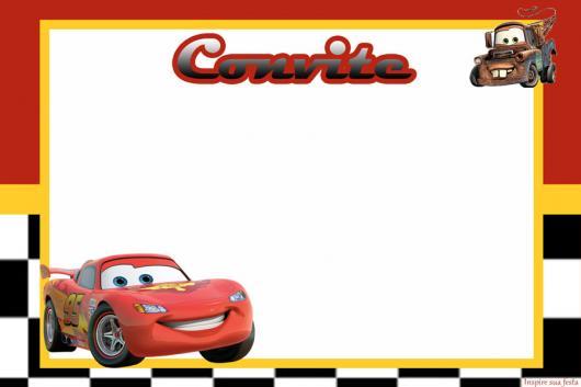 convites carros simples para imprimir
