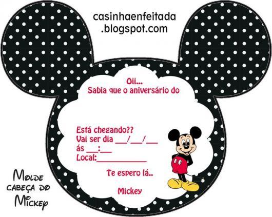 Convites Do Mickey 60 Modelos Sensacionais Moldes Gratis Para