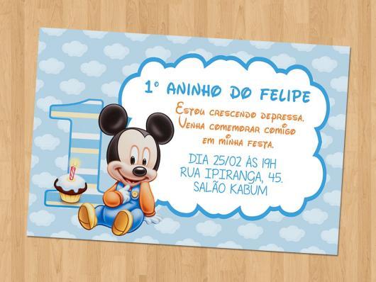Convites Do Mickey 60 Modelos Sensacionais Moldes Grátis Para