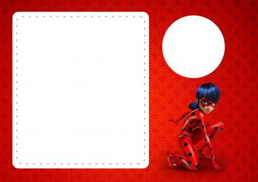 Convites Ladybug para imprimir grátis