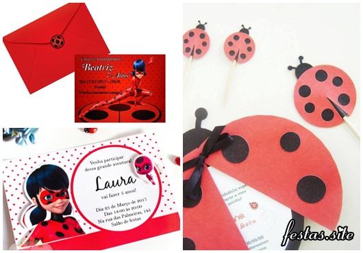 Convites Ladybug scrap modelos