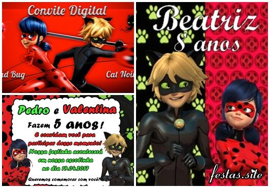 Convites Ladybug cartão