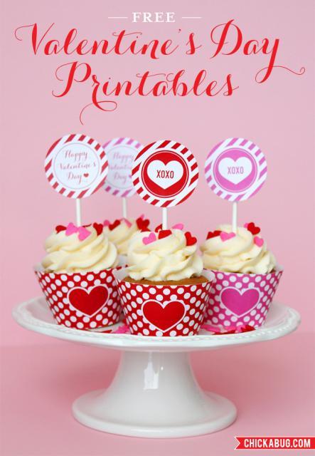 Cupcake para Dia dos Namorados Wrappers de coração e bolinhas