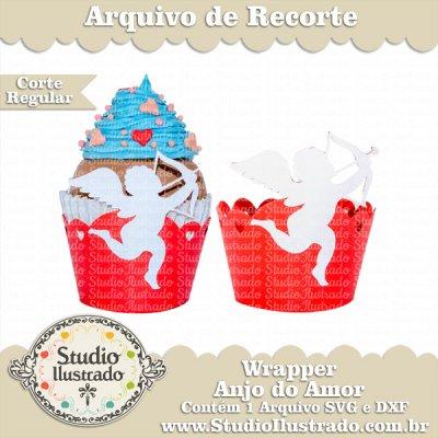 Cupcake para Dia dos Namorados Wrappers em formato de Cupido