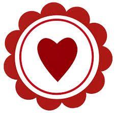 Cupcake para Dia dos Namorados Topper de coração para imprimir