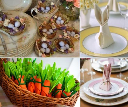 Decoração de Páscoa Simples e Barata ovos em cestinhas de palha