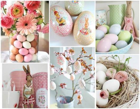 Decoração de Páscoa Simples e Barata ovos com decoupagem