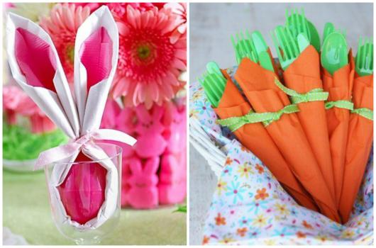 Decoração de Páscoa Simples e Barata chocolates enrolados em papel em formato de cenoura