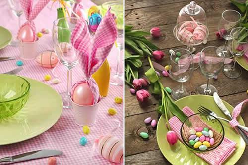 Decoração de Páscoa Para Mesa: doces em formato de ovos