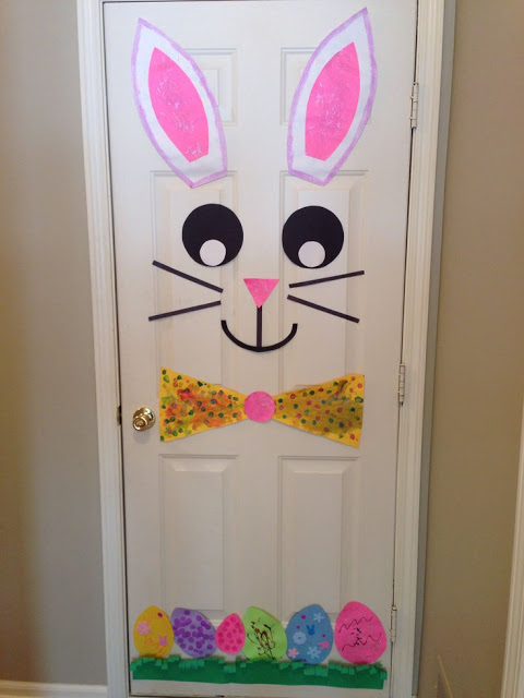 Decoração de Páscoa Para Escola: decoração de porta de sala de aula
