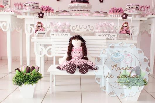 Decoração de Chá de Bebê de menina Boneca de Pano