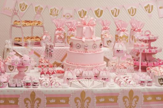 Decoração de Chá de Bebê de menina Princesa