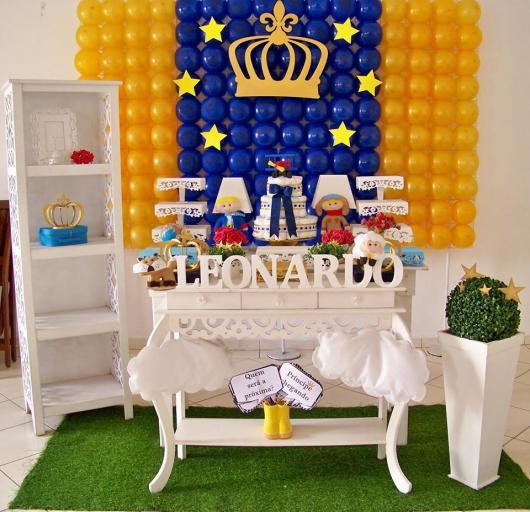 Decoração de Chá de Bebê de menino Pequeno Príncipe