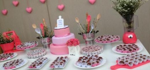 decoração rosa e branca