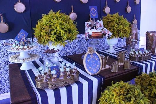 decoração azul marinho