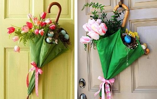 decoração de pascoa simples e barata com flores