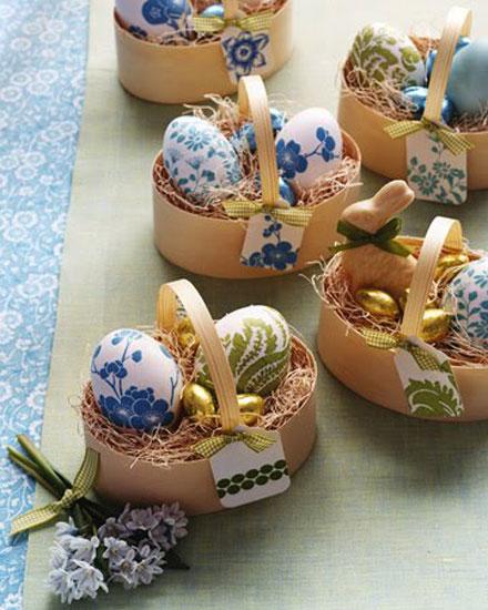 decoração de pascoa simples e barata ovos