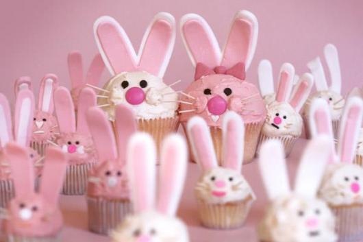 decoração de pascoa simples e barata com cupcakes