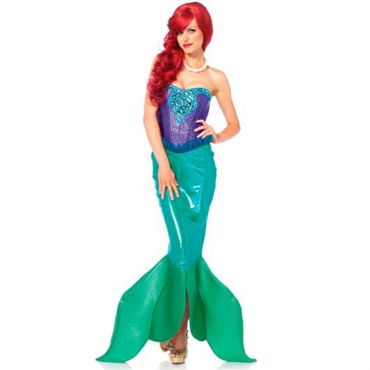 Fantasia Ariel Luxo com cauda brilhante