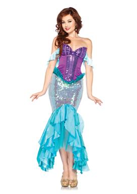 Fantasia Ariel luxo roxa e azul