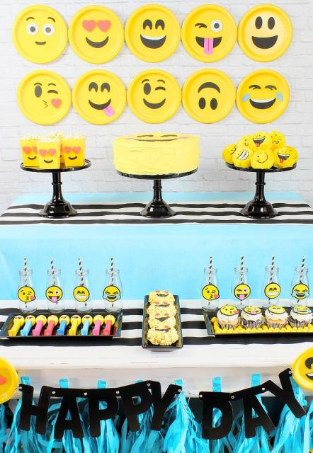 Festa Emoji u2013 Como Fazer com 60 Ideias Fantásticas de Decoraç u00e3o! -> Decoração De Festa Tema Emoji