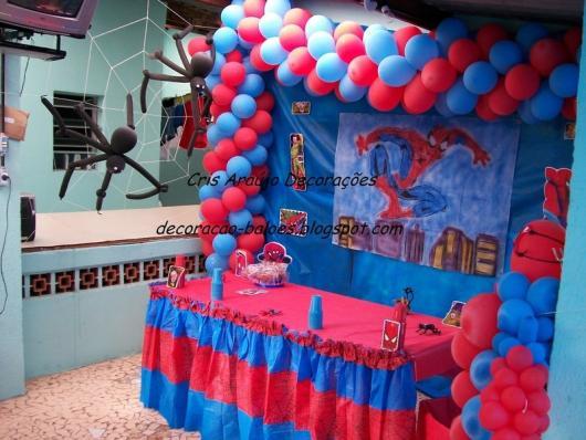 Festa Homem Aranha 60 Fotos Iradas para uma Festa Inesquecível! -> Decoração De Festa Simples Homem Aranha
