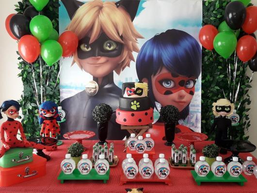 Decoração da Festa Ladybug e Cat Noir com personalizados