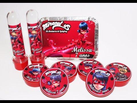 Lembrancinhas Festa Ladybug: kit de personalizados
