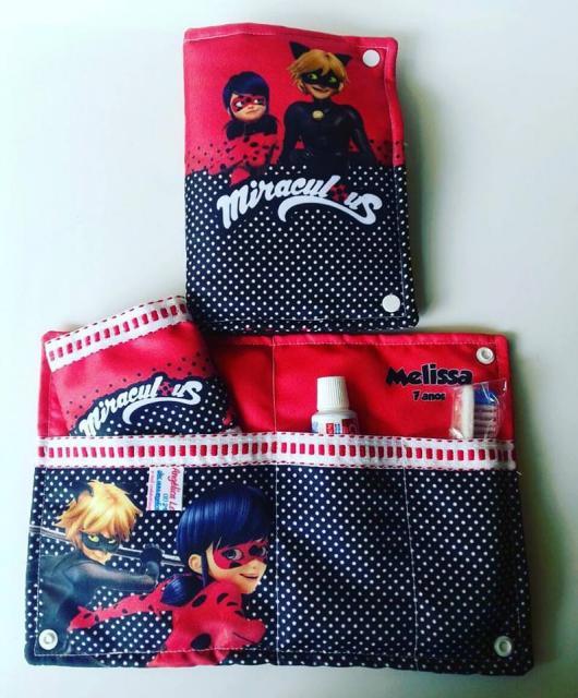 Lembrancinhas Festa Ladybug: bolsinha de tecido