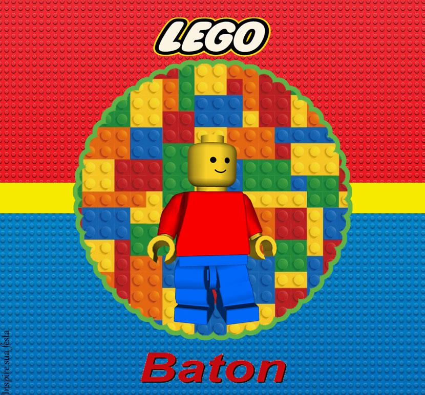 Kit Festa Lego para imprimir para chocolate batom