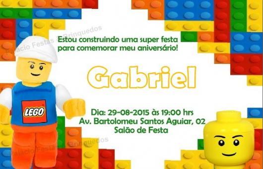 Convite Festa Lego