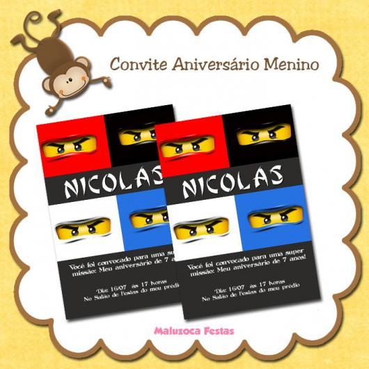 Convite Festa Lego Ninjago