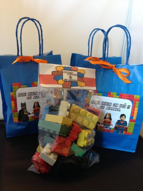 Lembrancinhas Festa Lego com kit Lego