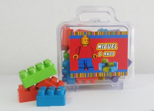 Lembrancinhas Festa Lego com caixinha de lego